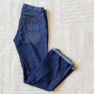 Gap Rainbow Stitch Denim Blue Jeans Stretch Women